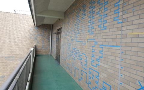 外壁タイル、モルタル剥落防止補強工事